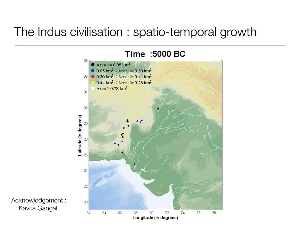 The Indus civilisation : spatio-temporal growth...
