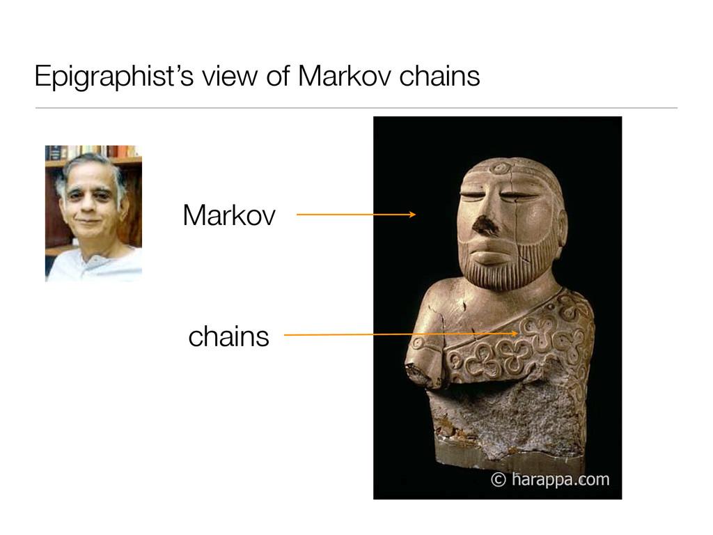Epigraphist's view of Markov chains Markov chai...