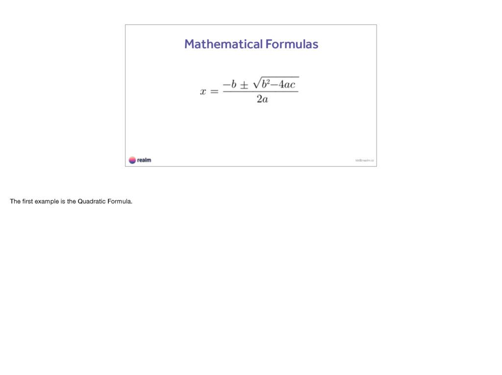 kk@realm.io Mathematical Formulas The first exam...