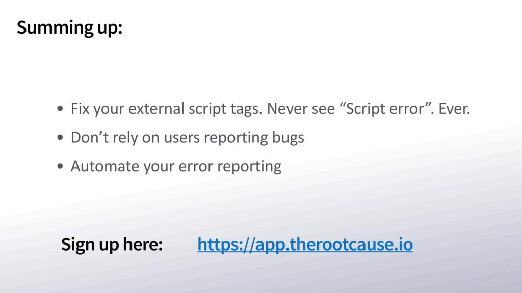 Sign up here: https://app.therootcause.io Summi...