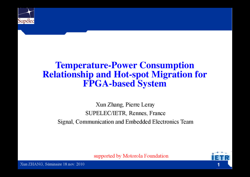 Temperature-Power Consumption p p Relationship ...