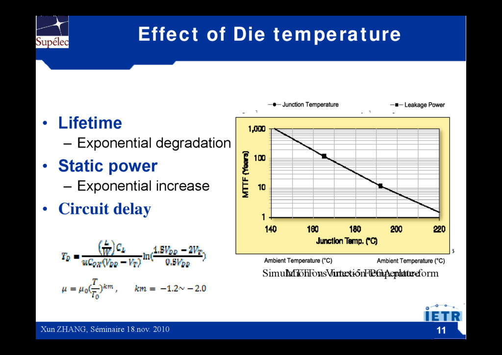 Effect of Die temperature • Lifetime – Exponent...