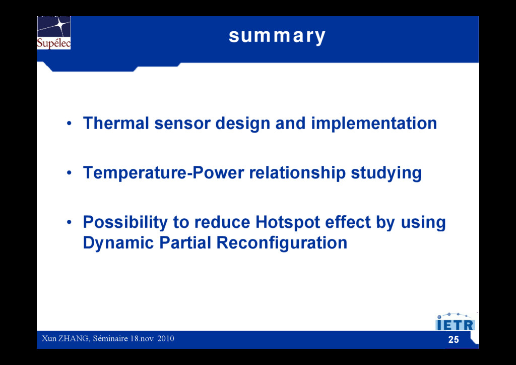 summary • Thermal sensor design and implementat...