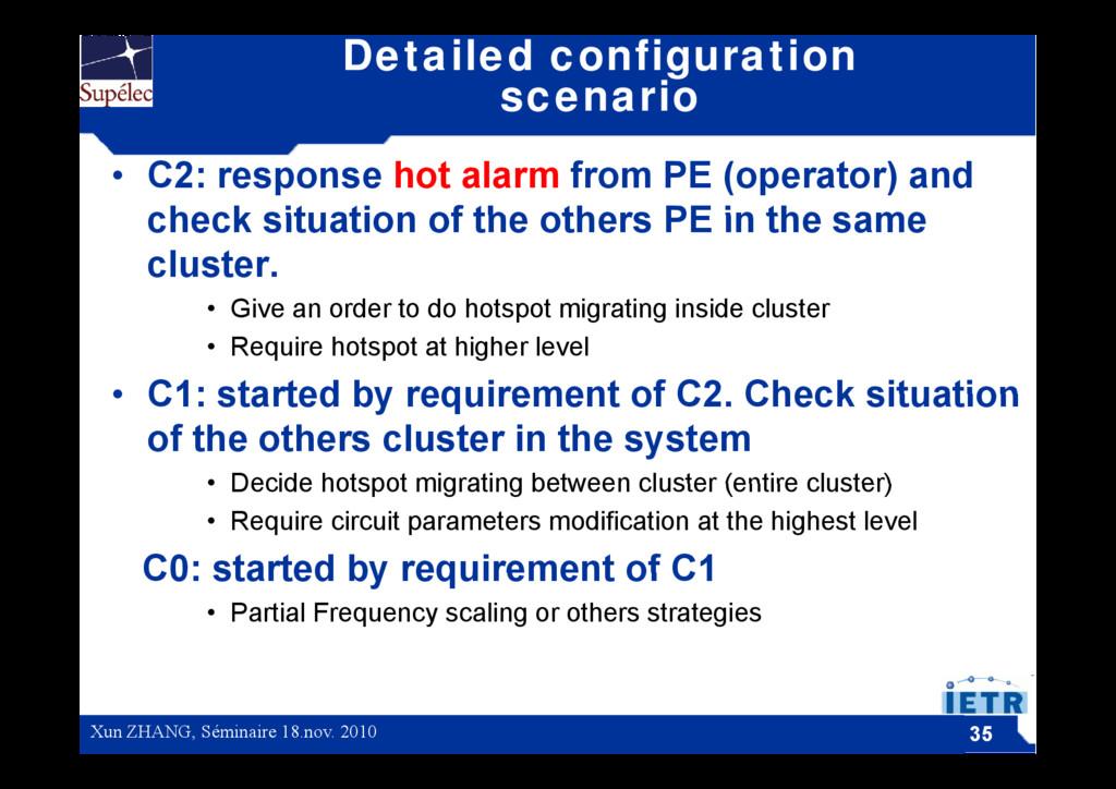 Detailed configuration scenario • C2: response ...