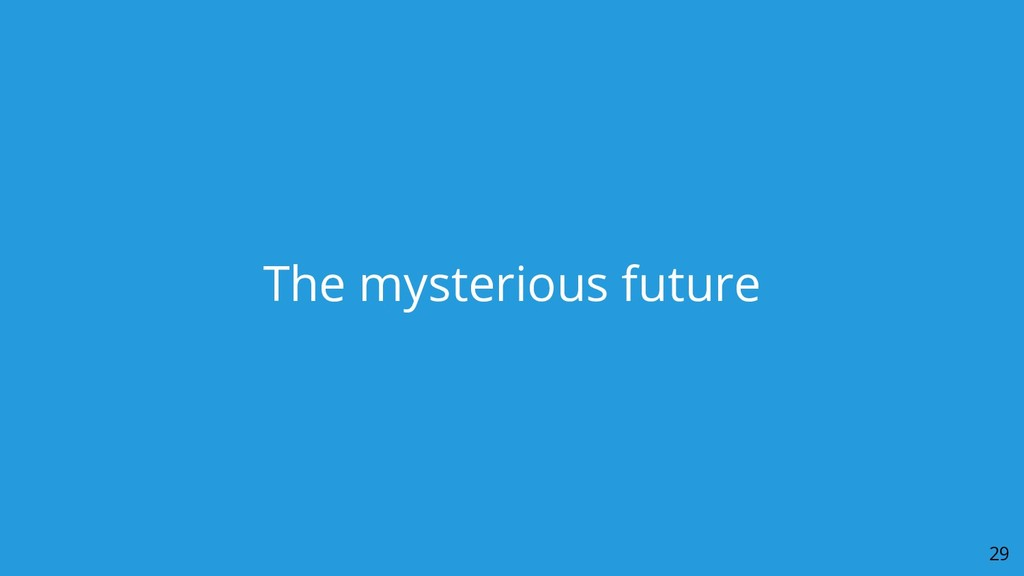 The mysterious future 29