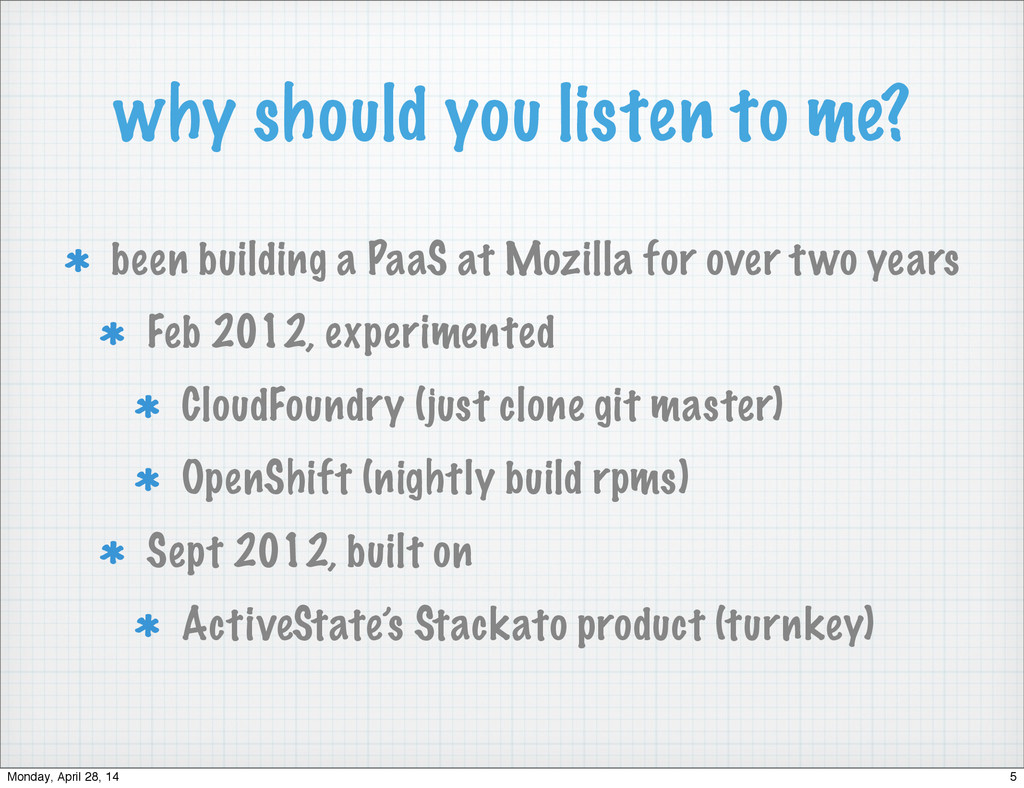 why should you listen to me? been building a Pa...