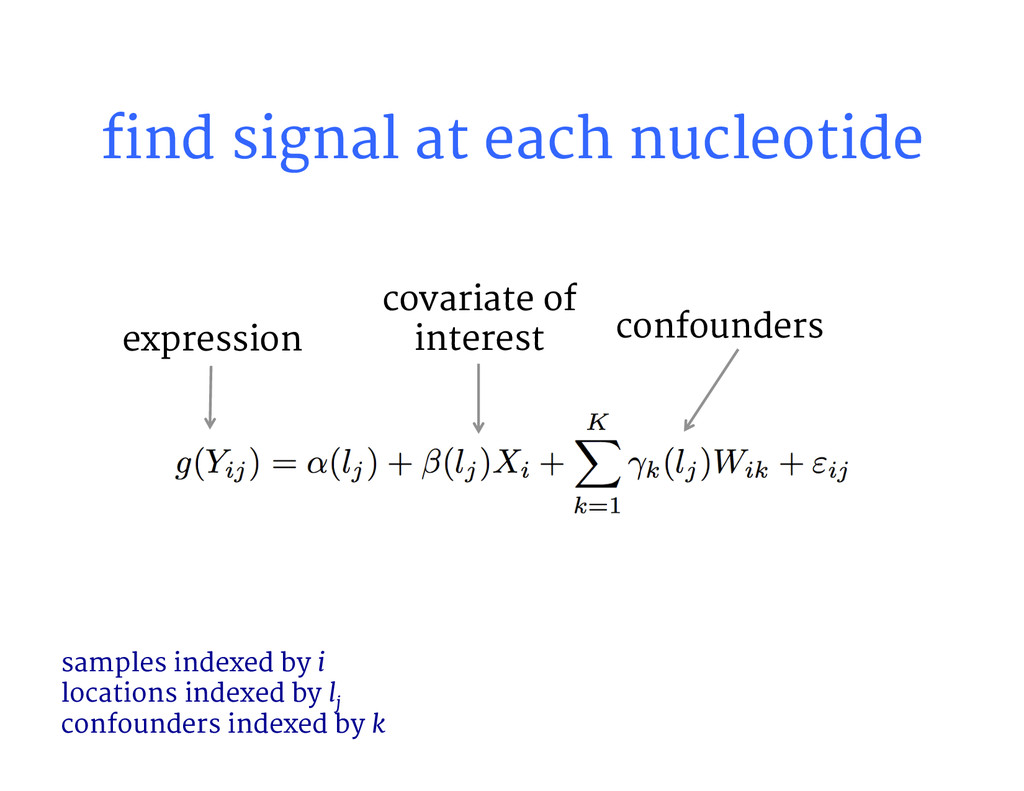 find signal at each nucleotide samples indexed...