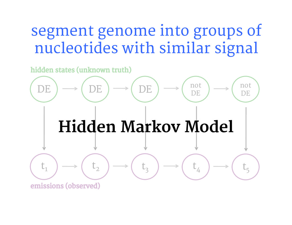 DE DE not DE segment genome into groups of n...