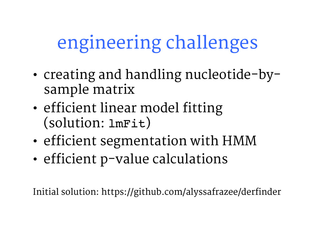 engineering challenges • creating and handlin...