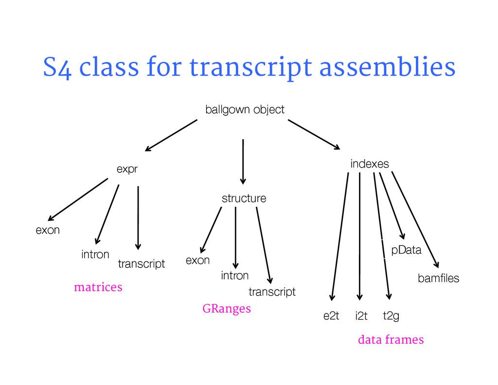 S4 class for transcript assemblies ballgown ob...