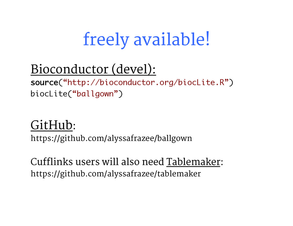 freely available! Bioconductor (devel): sourc...