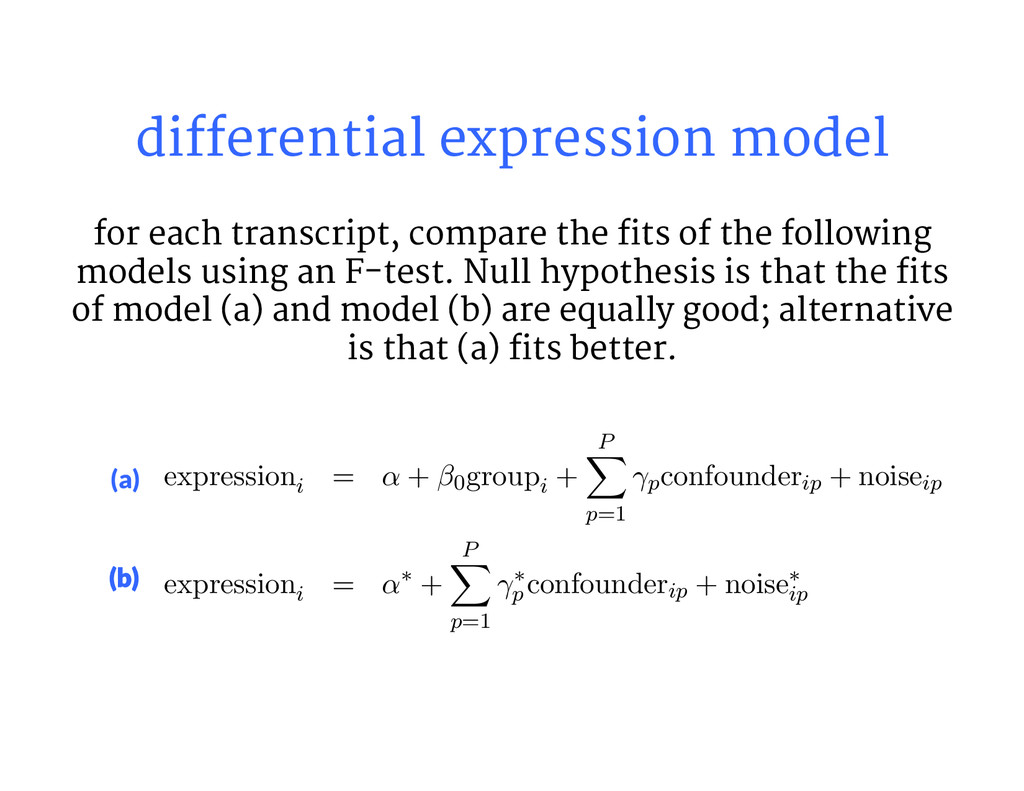 differential expression model