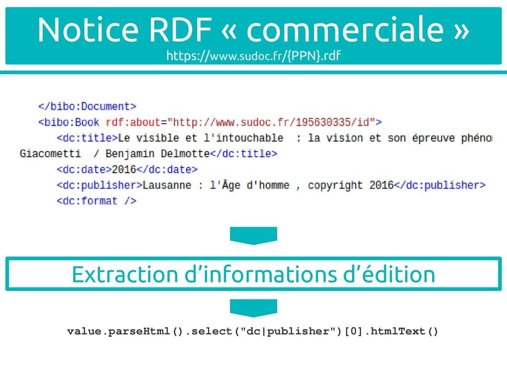 Notice RDF « commerciale » https://www.sudoc.fr...