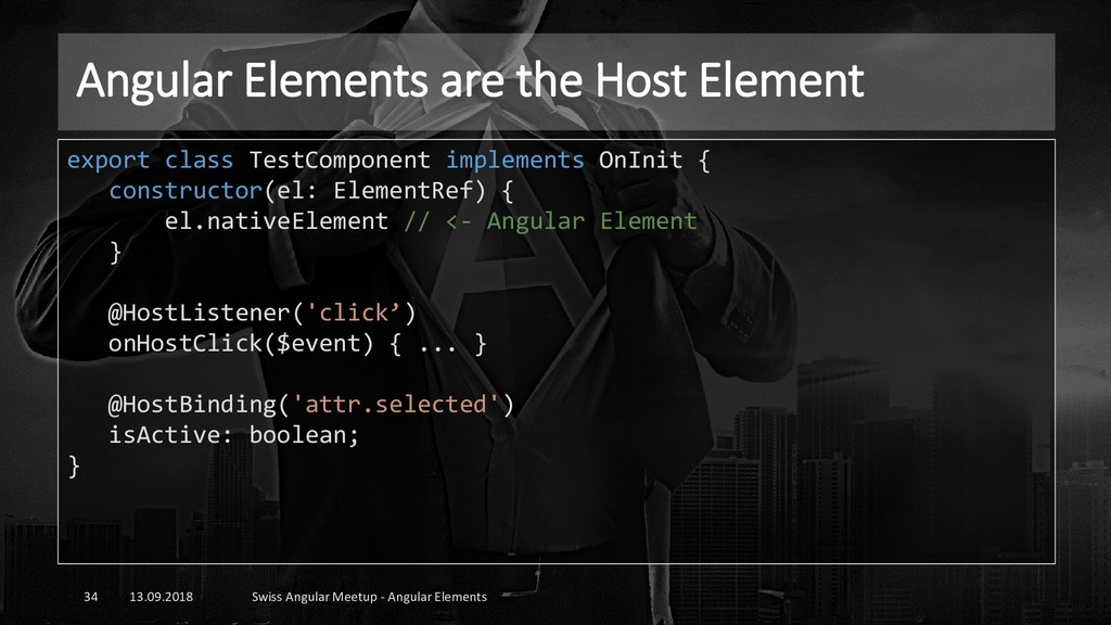 Angular Elements are the Host Element 13.09.201...