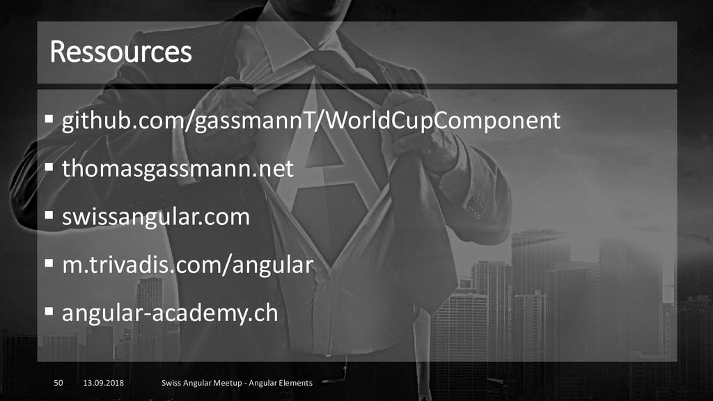 Ressources 13.09.2018 Swiss Angular Meetup - An...
