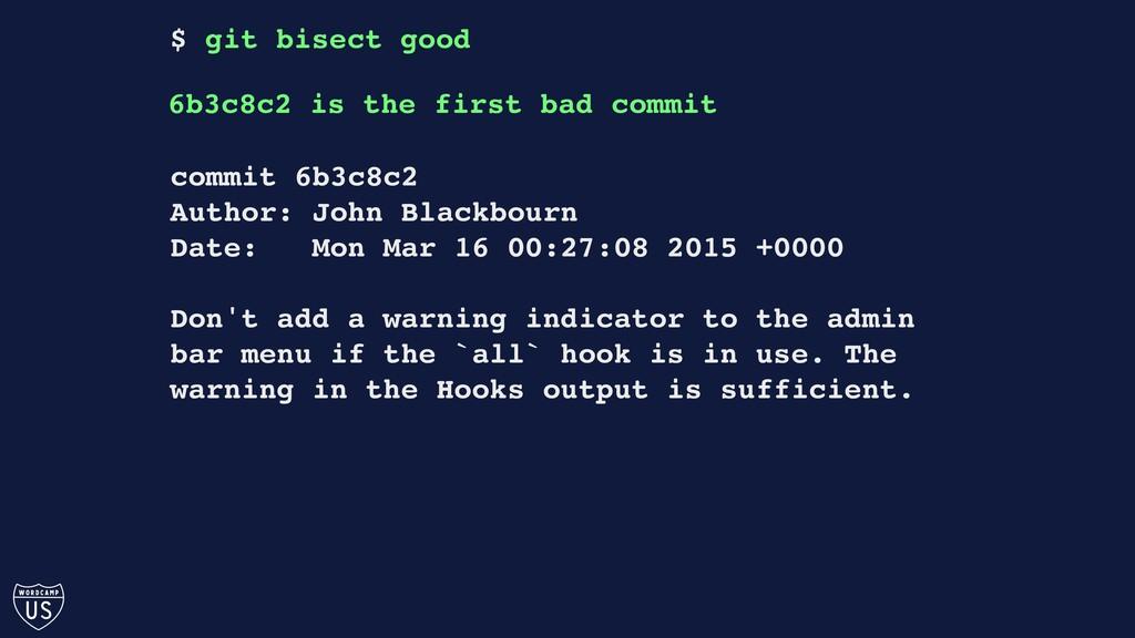 commit 6b3c8c2 Author: John Blackbourn Date: Mo...