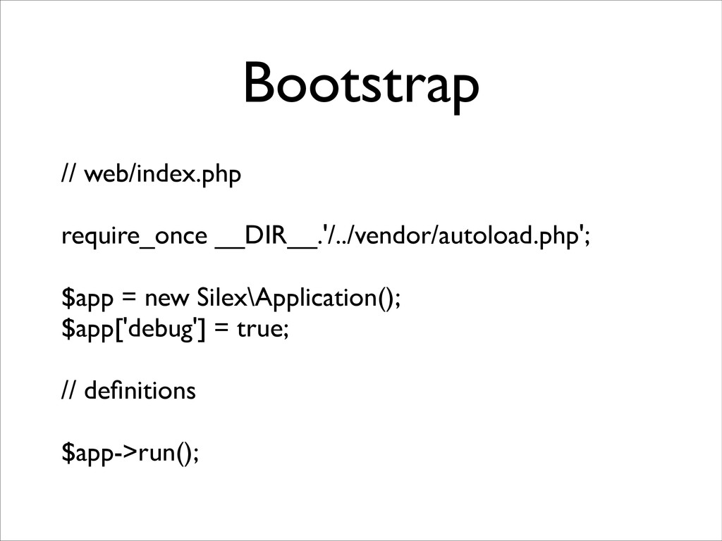 Bootstrap // web/index.php	 