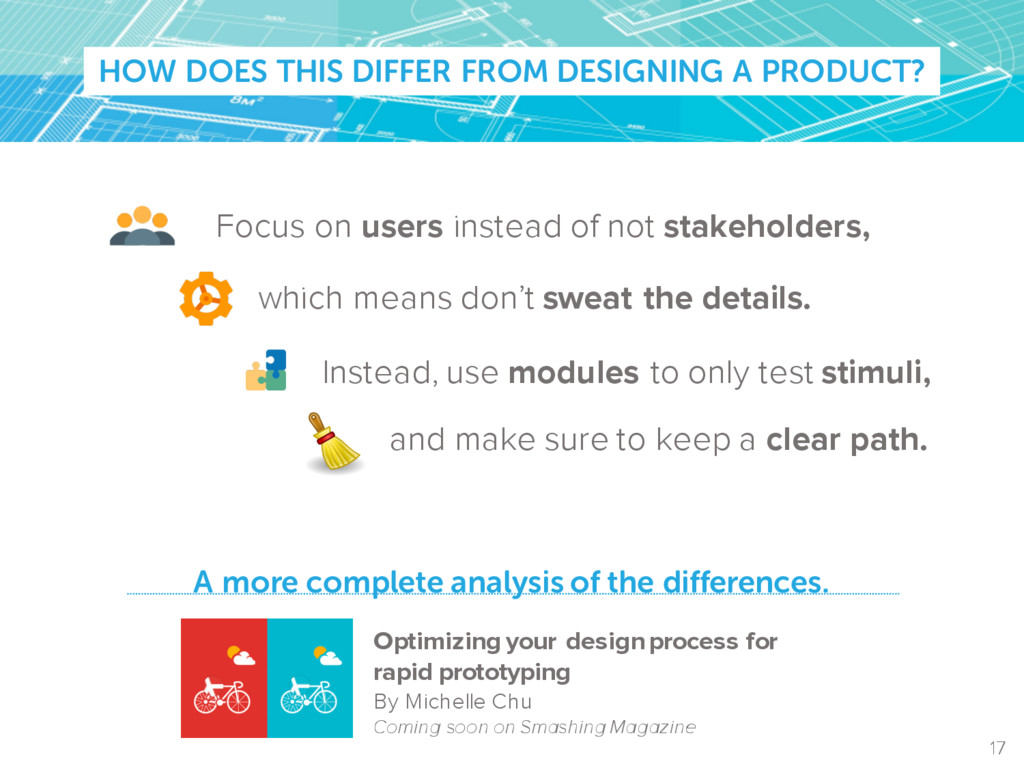 HOW DOES THIS DIFFER FROM DESIGNING A PRODUCT? ...