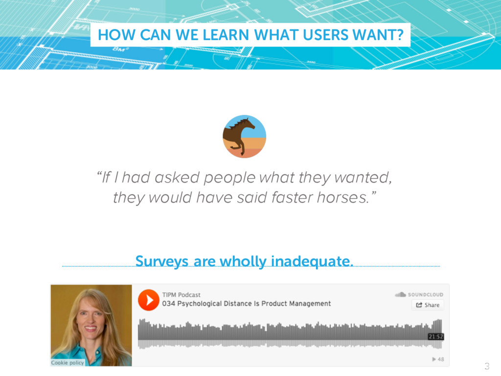 """HOW CAN WE LEARN WHAT USERS WANT? """"If I had ask..."""