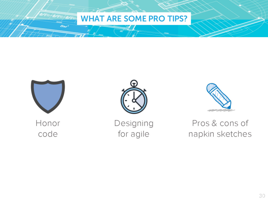 WHAT ARE SOME PRO TIPS? Honor code Designing fo...