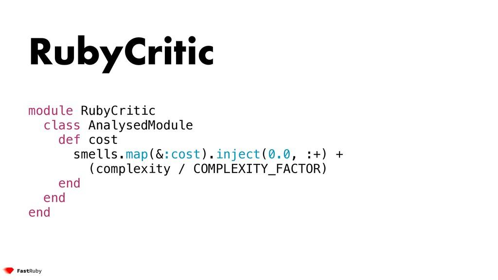 RubyCritic module RubyCritic class AnalysedModu...