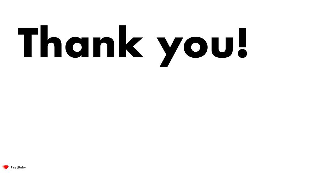 Thank you! @etagwerker 142 Thank you!