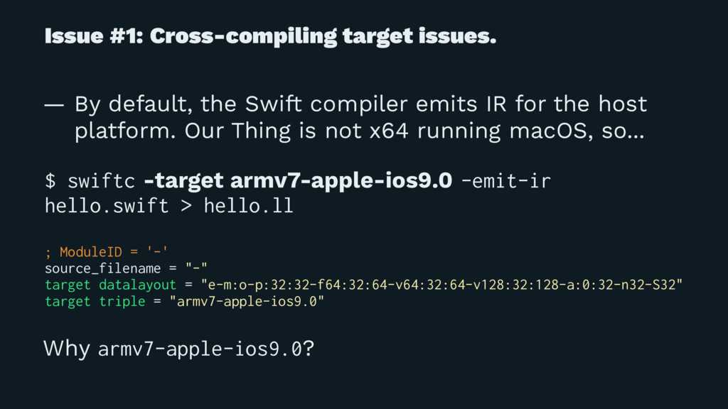 Issue #1: Cross-compiling target issues. — By d...