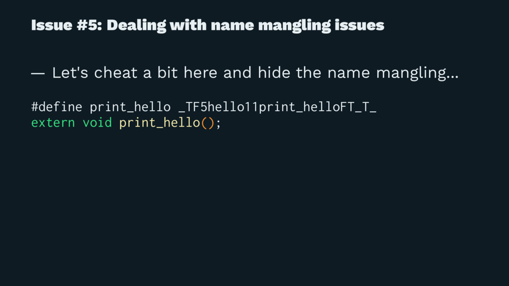 Issue #5: Dealing with name mangling issues — L...