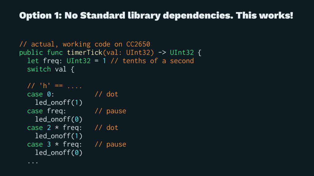Option 1: No Standard library dependencies. Thi...