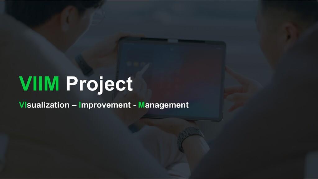 VIIM Project VIsualization – Improvement - Mana...