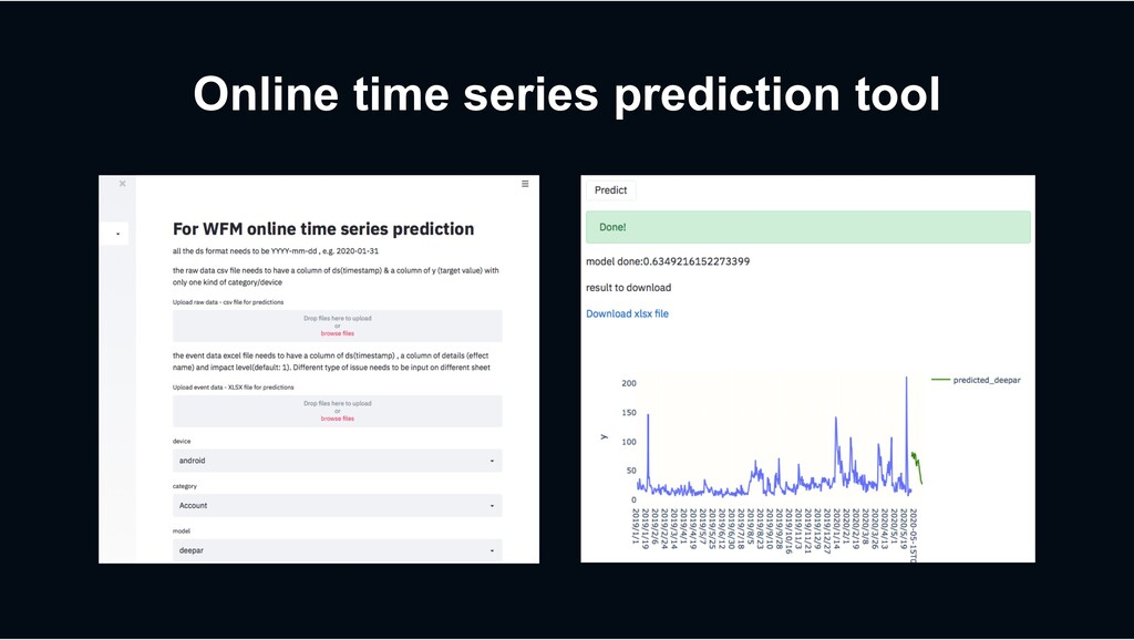 Online time series prediction tool