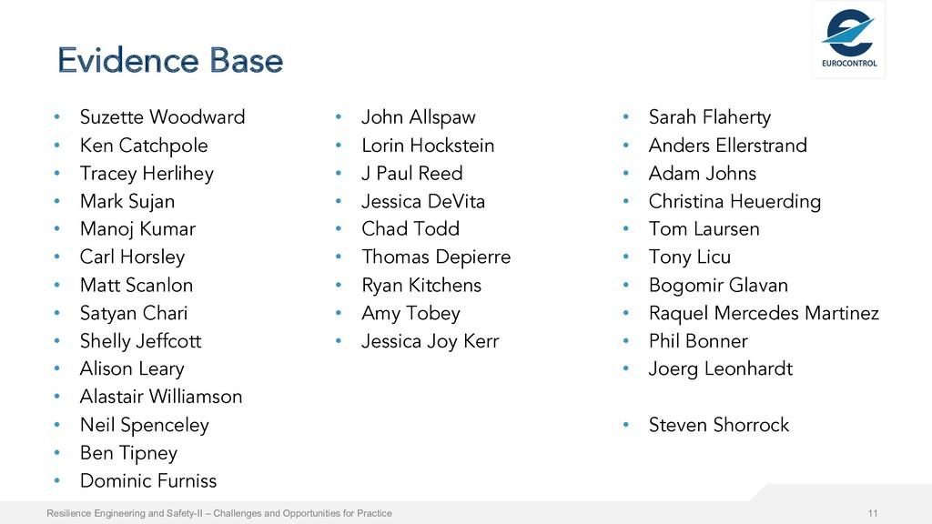 Evidence Base • Suzette Woodward • Ken Catchpol...