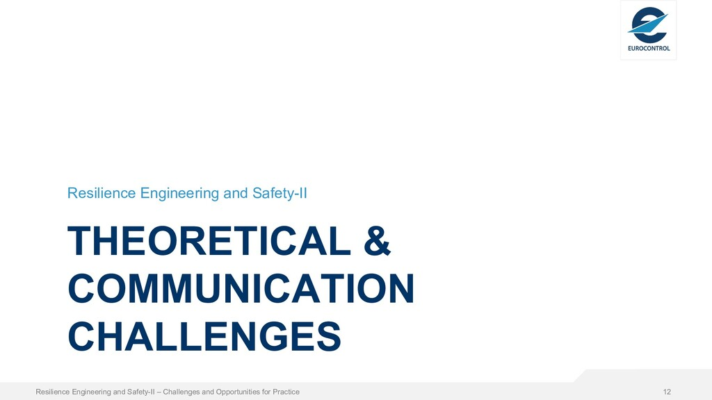 THEORETICAL & COMMUNICATION CHALLENGES Resilien...