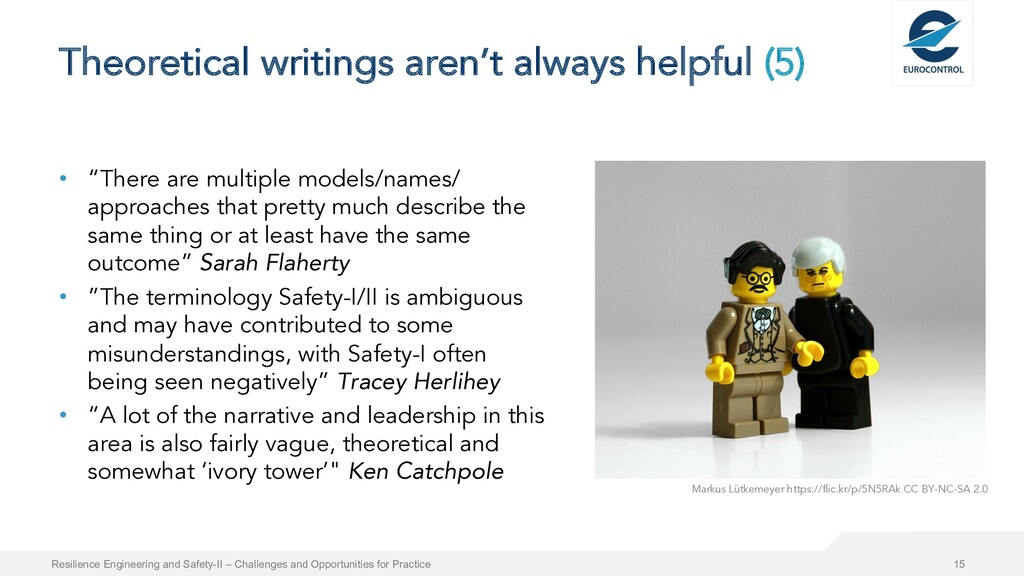 Theoretical writings aren't always helpful (5) ...