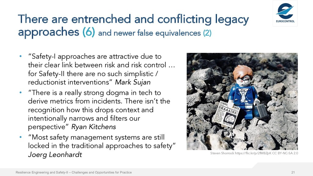 There are entrenched and conflicting legacy app...
