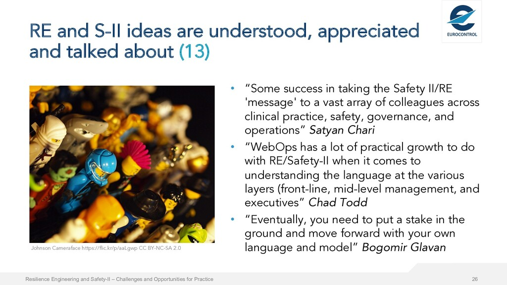RE and S-II ideas are understood, appreciated a...