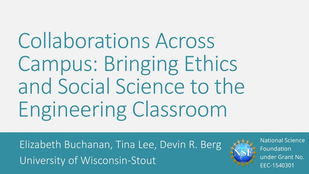 Collaborations Across Campus: Bringing Ethics a...