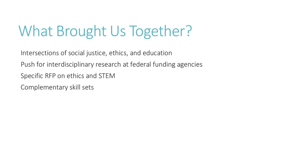 What Brought Us Together? Intersections of soci...