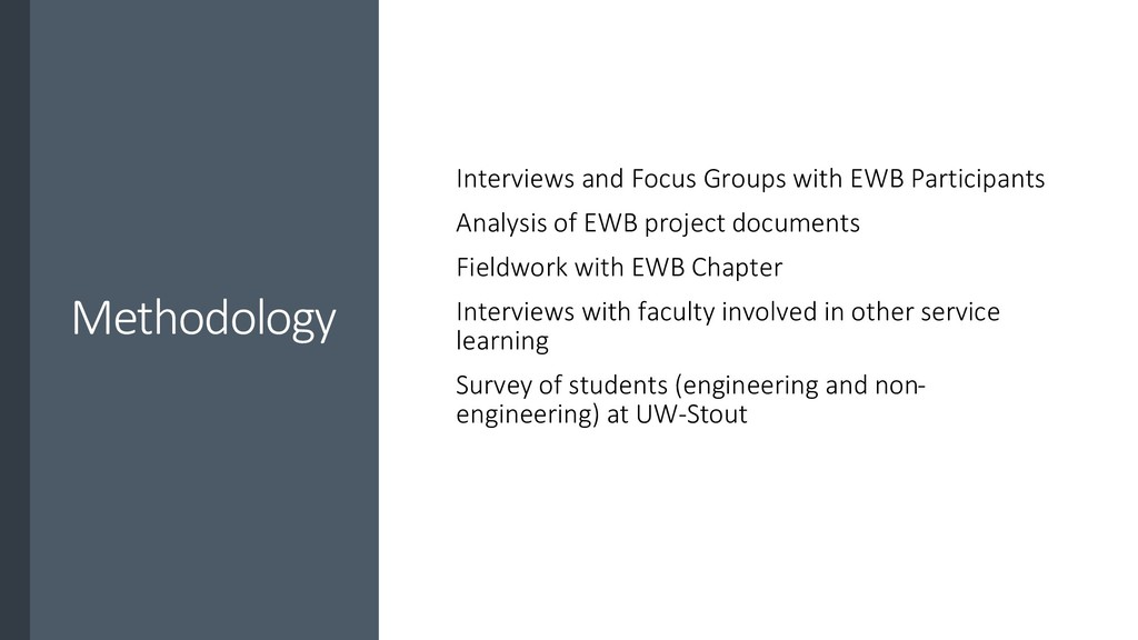 Methodology Interviews and Focus Groups with EW...