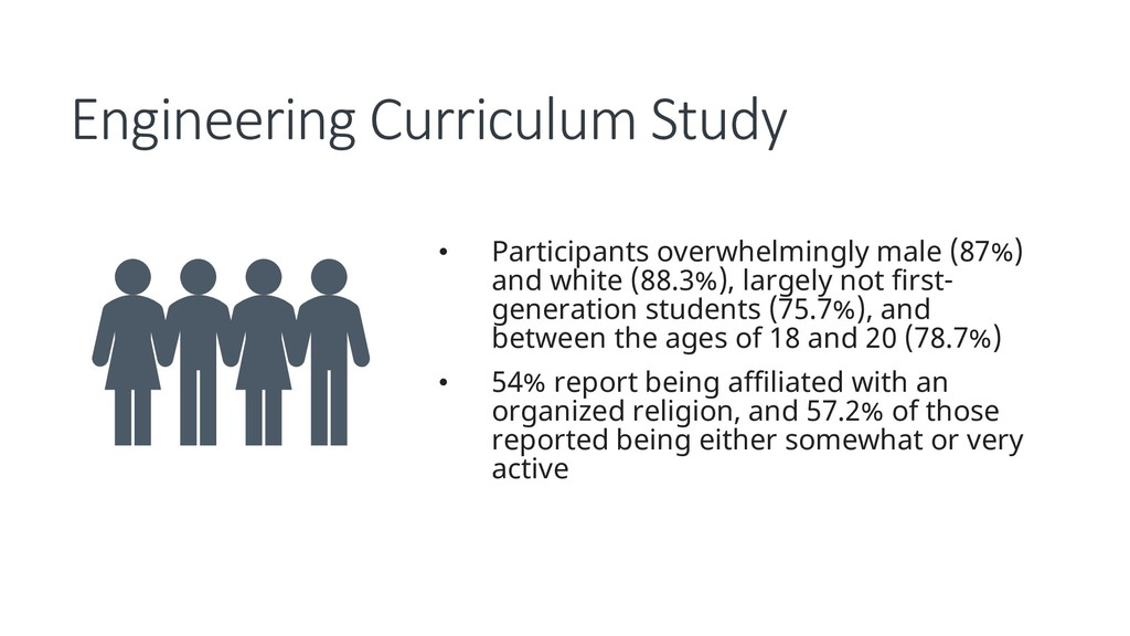 Engineering Curriculum Study • Participants ove...