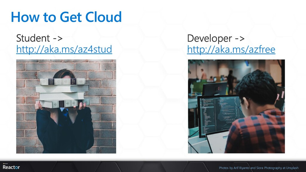 How to Get Cloud http://aka.ms/az4stud http://a...
