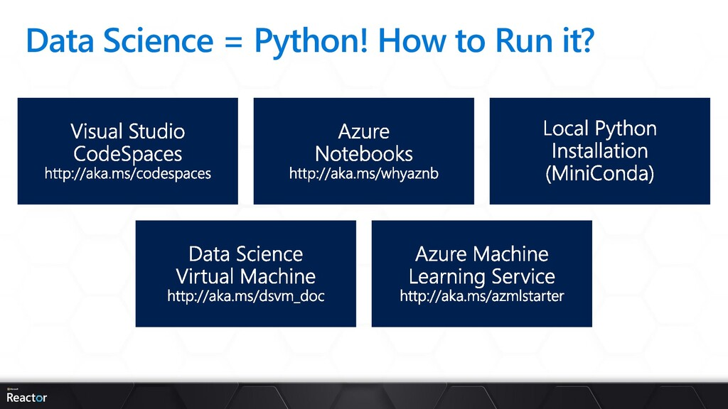 Data Science = Python! How to Run it?