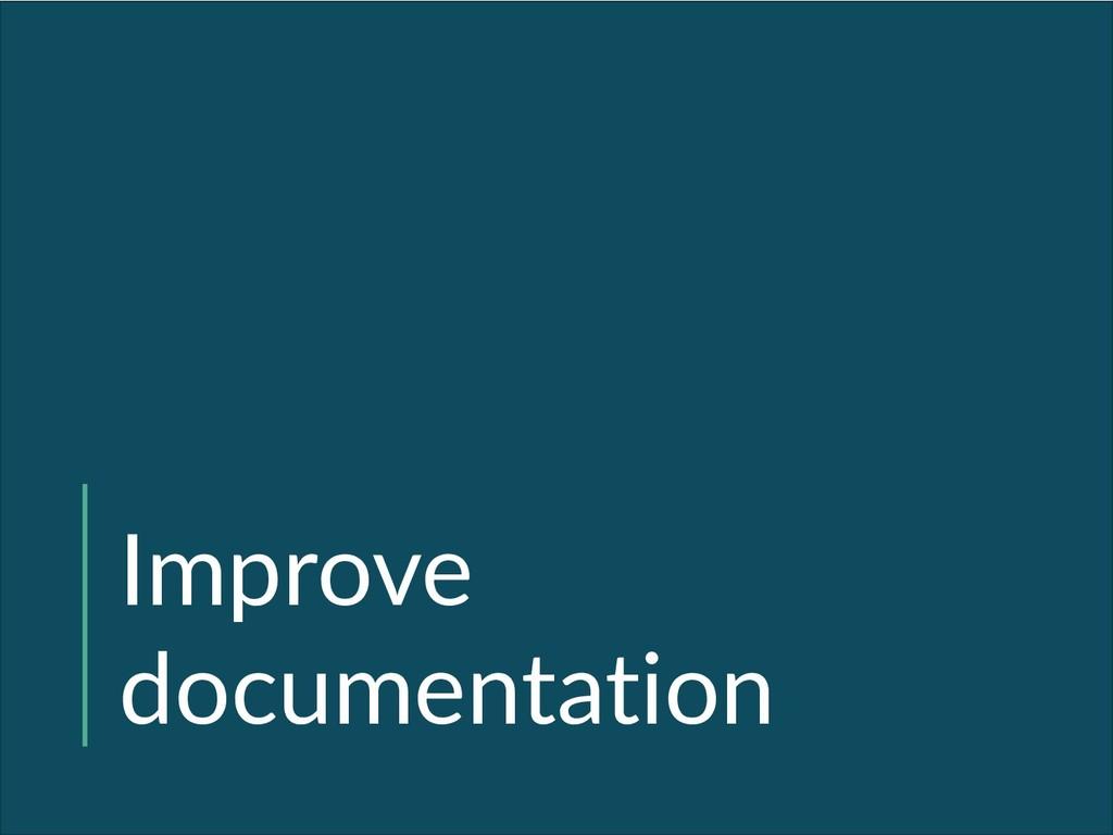 Improve documentation