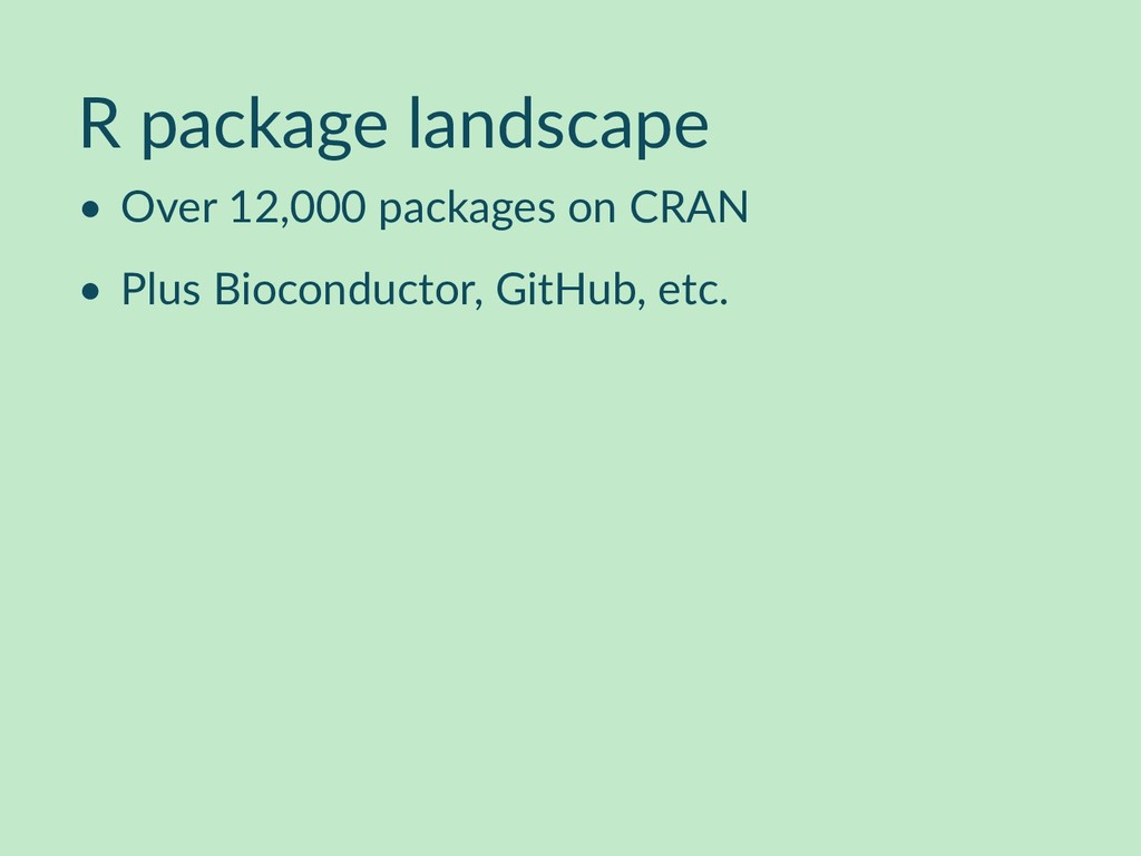 R package landscape • Over 12,000 packages on C...
