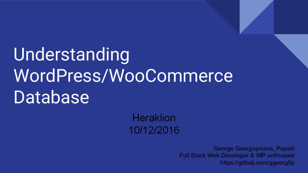 Understanding WordPress/WooCommerce Database Ge...
