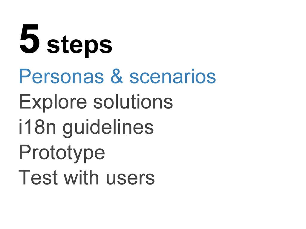 5 steps Personas & scenarios Explore solutions ...