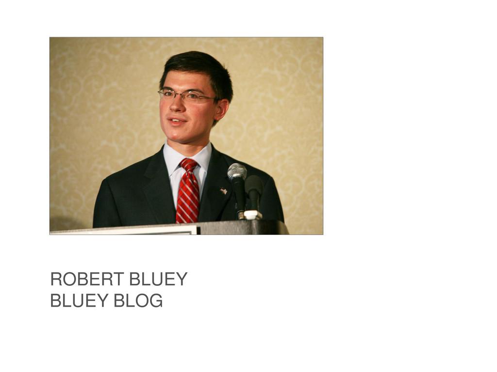 ROBERT BLUEY BLUEY BLOG