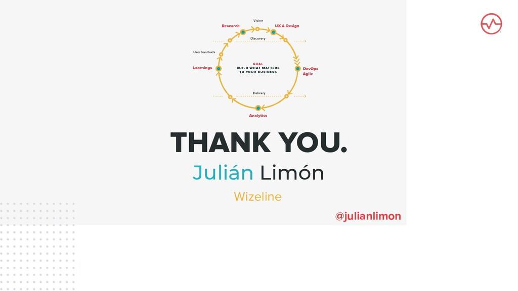 THANK YOU. Julián Limón @julianlimon Wizeline