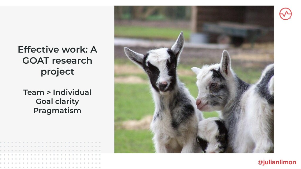 Effective work: A GOAT research project Team > ...