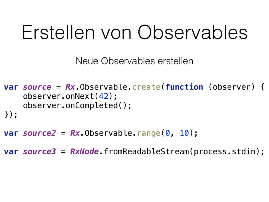 Erstellen von Observables var source = Rx.Obser...